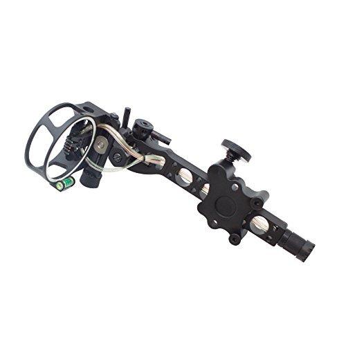 SAS 5 Pin .019 Bow Sight with Micro Adjust Detachable Bracket LED Sight...