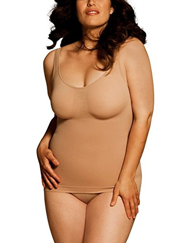 Bodywrap Shapewear Women's Tank-Tastic 45635 with Wide Comfort Straps, Compression Panels & No Visible Lines - Nude - Size 3X