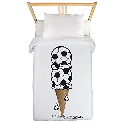 Twin Duvet Cover Soccer Ice Cream Cone by Truly Teague