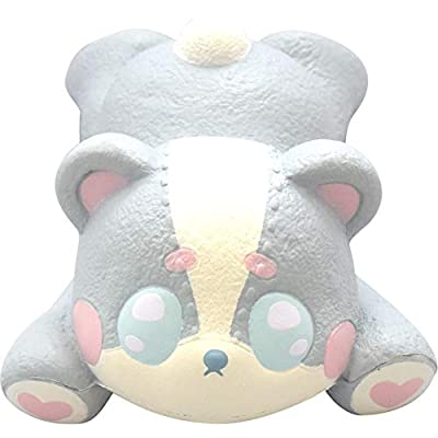 ibloom Harajuku Bear Slow Rising Animal Squishy Toy (Mat, Blue, Coconut Scented, 5 Inch) [Birthday Gifts, Party Favors, Stress Relief Toys for Kids, Adults]: Toys & Games