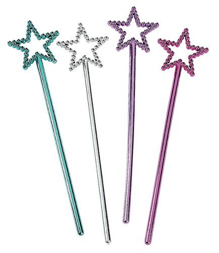 (Mini Plastic Star Fairy Wands (2 dz) by Fun Express)