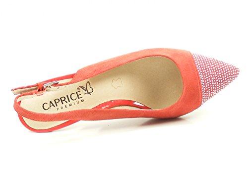 Sandales 20 Femme Caprice 29608 Rouge 9 Mode E0qwatw