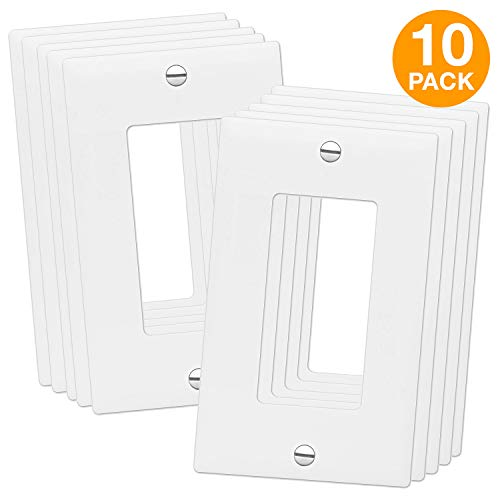 - ENERLITES Decorator Light Switch or Receptacle Outlet Wall Plate, Size 1-Gang 4.88