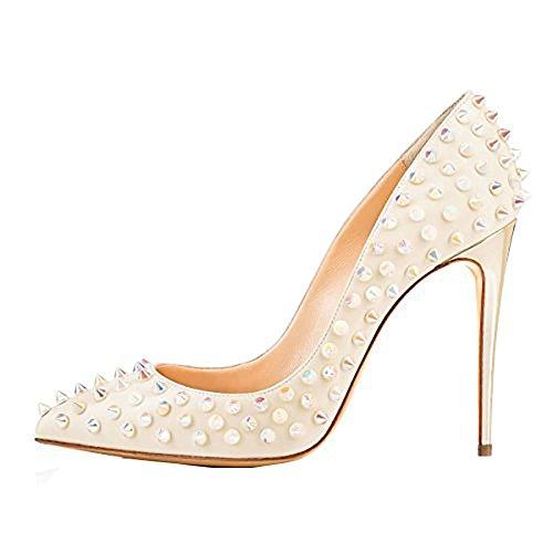 Cmnkoj Escarpins Glisser 12CM Femme Aiguille Sur Beige Vaneel Chaussures qTW5FPnY7