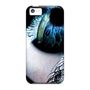 Iphone 5c Case Cover Skin : Premium High Quality Blue Black Eye Case