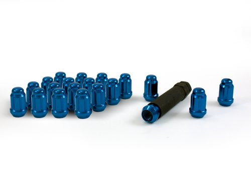 Gorilla Automotive 21132BL Small Diameter Acorn Blue 4 Lug Kit (12mm x 1.50 Thread Size) - Pack of ()
