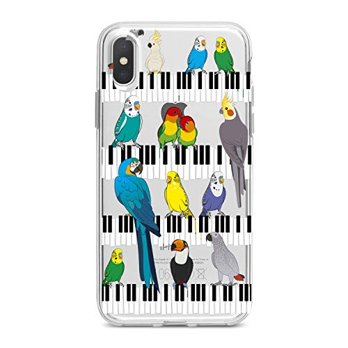 Lex Altern TPU Case for iPhone Apple Xs Max Xr 10 X 8+ 7 6s 6 SE 5s 5 Colorful Carrots Pianist Clear Silicone Cover Print Musician Protective Bright Birds Flexible Girl Present Women Soft Lady Blue