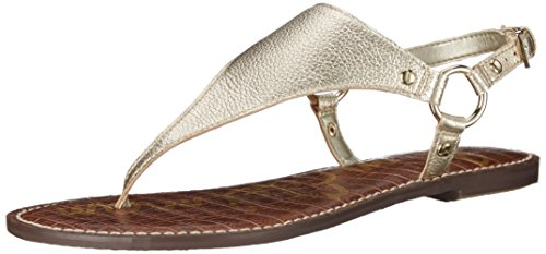 Sam Edelman Women's Greta Sandal, Jute Metallic Leather, 6.5 M US -