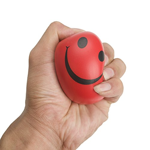 GOGO Happy Smiley Stress Relief Ball, Cheap Squeeze Balls Pack of 12