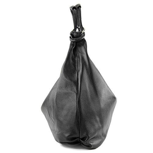 tela Negro mujer para de Italy Bolso Made q8xw4taaR