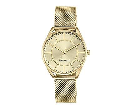 Nine West Goldtone Mesh Bracelet Watch