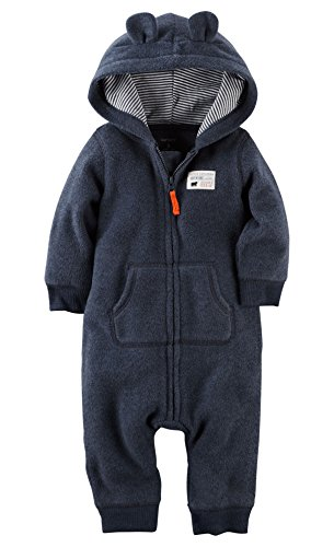 Carters Hooded Fleece Jumpsuit Months