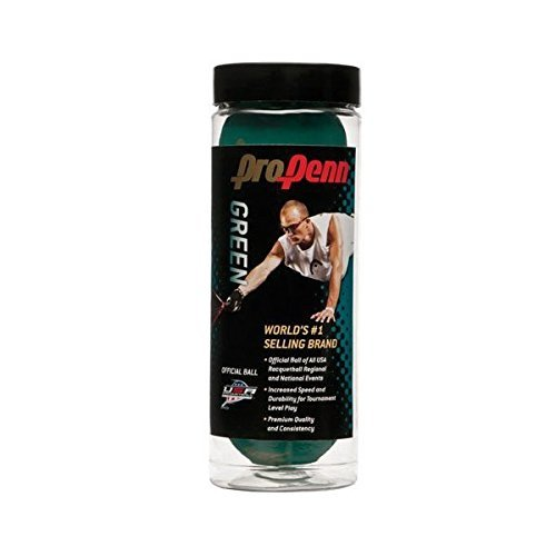 Penn Pro Penn Green Racquetball 1 can of 3 balls
