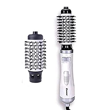 Can Not Use In USA SHINON Hot Air Brush Women Round Brush For Blow Automatic Rotating Hair Dryer Curler 2inch AND 1.5inch Brush Hair Blow Comb Dryer European Voltage