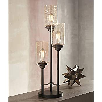 Libby Modern Industrial Console Table Lamp Bronze 3 Light