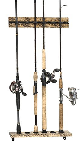 Organized Fishing Camo Modular Vertical Wall Rack for Fis...