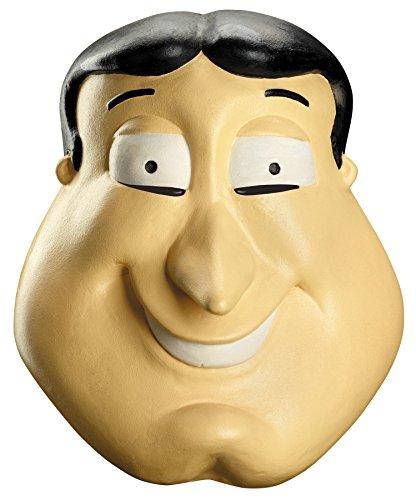 UHC Men's Family Guy Glenn Quagmire Deluxe Funny Cosplay Latex Halloween Mask