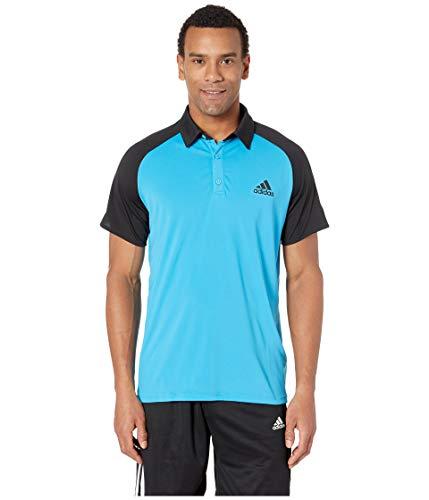 adidas Men's Club Colorblock Polo Shock Cyan/Black ()