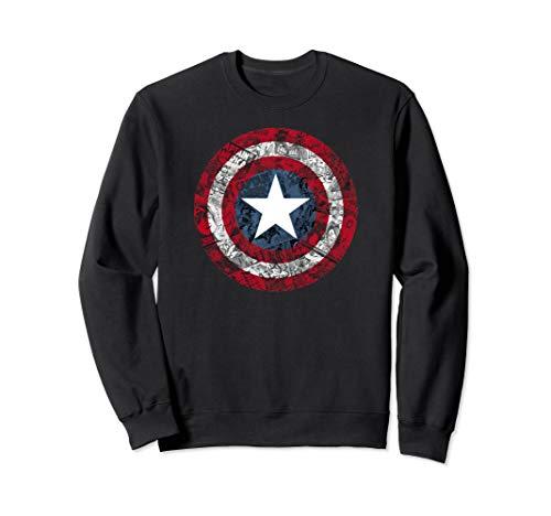 (Marvel Captain America Avengers Comic Shield Logo Sweatshirt)