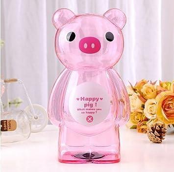 Amazon.com: Hucha Piggy Banco dibujos animados de plástico ...