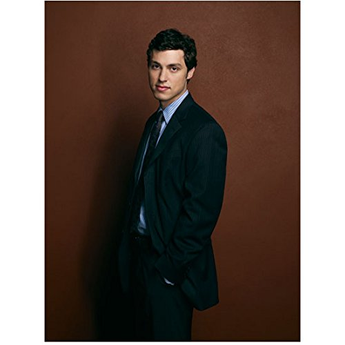 - Bones John Francis Daley as Dr. Lance Sweets in Black Pinstripe Suit and Blue Striped Button Down 8 x 10 inch photo