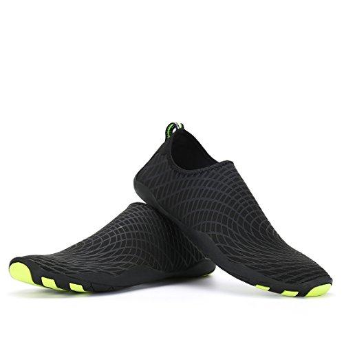 De Rapide Chaussons Yoga Black02 Volleyball Surf Pour Piscine Bain Aqua Kuuland La Chaussettes Aquatiques Plonge Schage Unisexes Barefoot Chaussures Plage 1q80R8