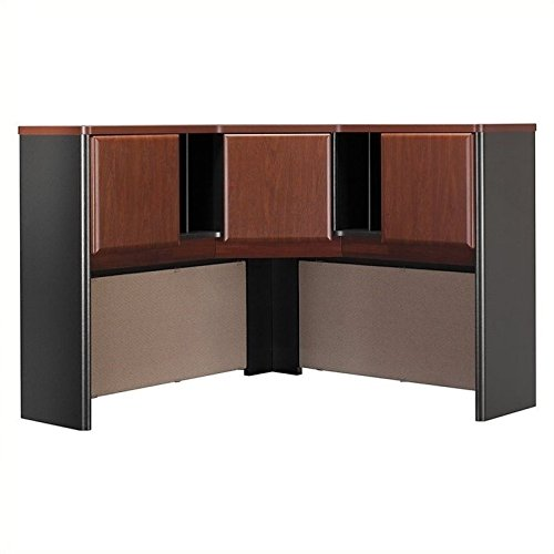 Bush Business Furniture Series A Collection 48W Corner Hutch in Hansen Cherry