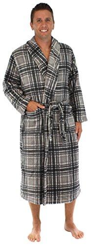 PajamaMania Mens Fleece Long Robe product image