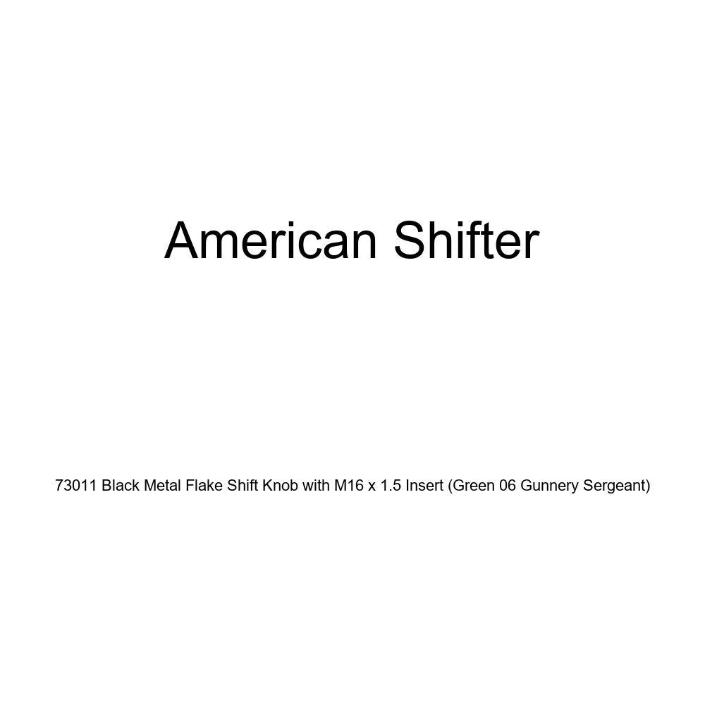 American Shifter 73011 Black Metal Flake Shift Knob with M16 x 1.5 Insert Green 06 Gunnery Sergeant