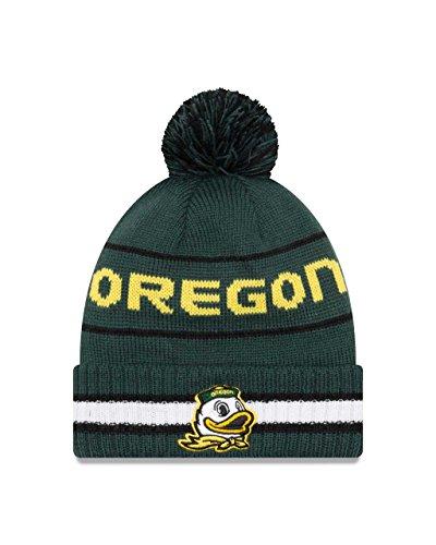 Vintage Duck - New Era Oregon Ducks College Vintage Select Knit Pom Beanie - Green, One Size