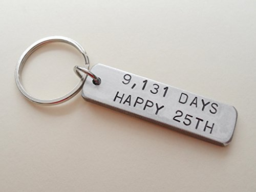 Aluminum Tag Keychain Stamped with