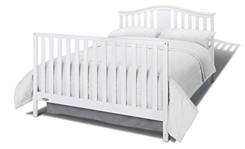 41Xeo9ybrgL - Graco Solano 4-in-1 Convertible Crib With Drawer, White, Easily Converts To Toddler Bed Day Bed Or Full Bed, Three Position Adjustable Height Mattress, Some Assembly Required (Mattress Not Included)