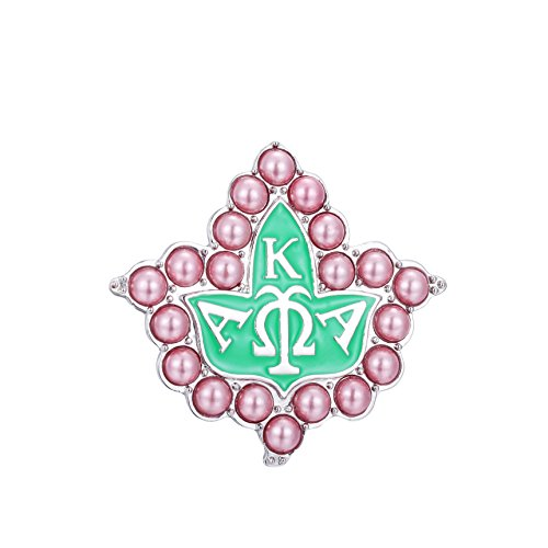 KINGSIN Vintage Pearl Brooch for Women AKA Sorority Gifts Alpha Kappa Alpha Paraphernalia Leaf Pins Mother's Day Gifts