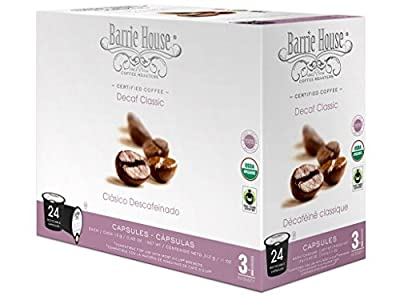 Barrie House Organic & Fair Trade Certified Decaf Classic Single Cup Capsules