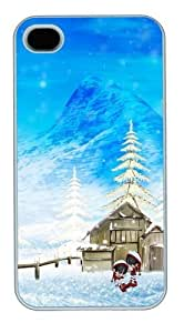 Happy Winter Christmas Custom For Apple Iphone 5C Case Cover Polycarbonate White Halloween gift