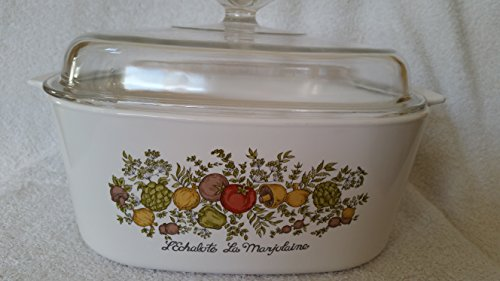 Vintage Corning Ware Spice of Life Lexhalote La Marjolaine Dutch Oven with Lid 5 L Liter Vintage Corningware Spice