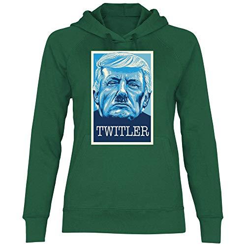 Green Donna Wowshirt Con Felpa Twitler Trump Contro Cappuccio Bottle SqvtwZ8qx