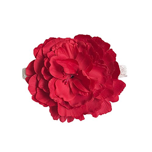 Forthery Baby Girl Headbands Flower Head Wrap Elastic Hair Band For Newborn Infant Kids (Red)