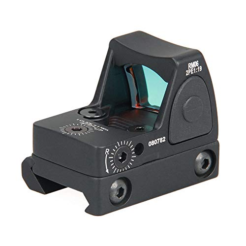 - HM Red Dot Sight Tactical RMR 3.25 MOA Micro Adjustable Reflex Red Dot Sight Scope 40mm Parts Set US(Black)