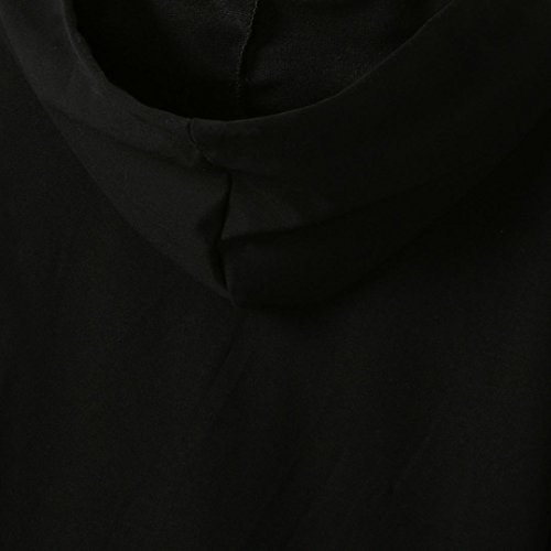 Omiky® Childen Säuglingskind-Mädchen-Buchstabe-Druck Kapuzen-Mantel-Blusen-Oberseiten Warme Kleidung Schwarz