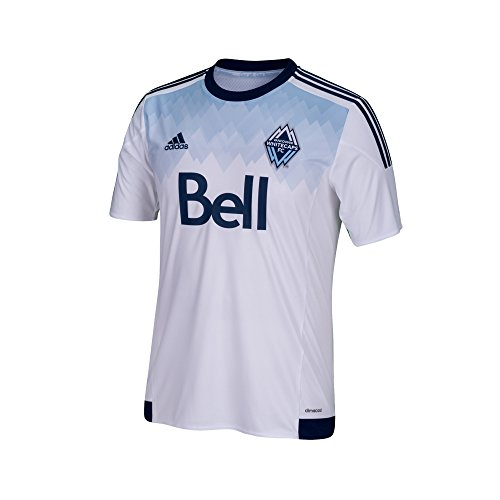 Adidas Youth Soccer Uniforms (MLS Vancouver Whitecaps Boys Youth Replica Short Sleeve Jersey, Large, White)