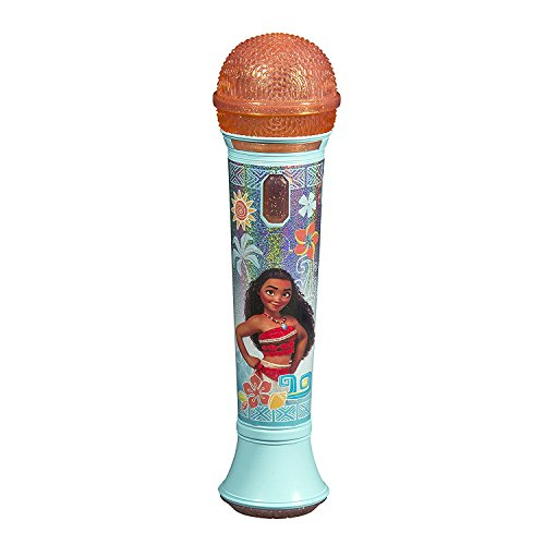 Disney Moana - SING -ALONE MP3 MICROPHONE - Sing Along With This Super Cool Microphone! Featuring Build-in Music from the Movie and Flashing Lights to Create the Ultimate Concert Right at Home! ()