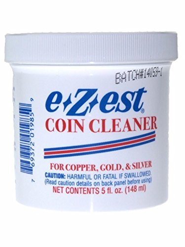 5oz e-Z-est Coin Cleaner for Gold Silver and Copper Coins by eZest