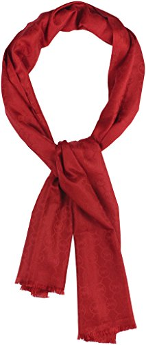 MICHAEL Michael Kors Women's Jet Set Logo Jacquard Wrap Onesize Red from Michael Kors