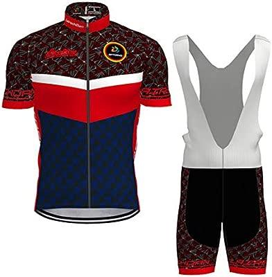 Hengxin Maillot Ciclismo Corto De Verano para Hombre, Ropa Culote Conjunto Traje Culotte Deportivo con 3D Almohadilla De Gel para Bicicleta MTB ...