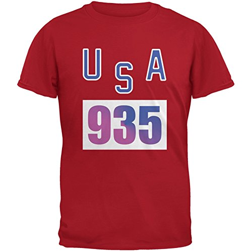 Bruce Jenner Costume (Team Bruce Jenner USA 935 Olympic Costume Red Adult T-Shirt - Large)