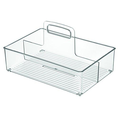 - InterDesign Linus Storage Tote for Kitchen, Bathroom, Cabinet - Medium, Clear