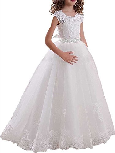 Nina Girl First Communion Pageant Flower Wedding Birthday Dress W/W-US14 by sound of blossoming