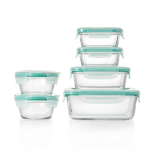 OXO Good Grips Smart Seal Container 12 Piece Glass Container Set