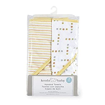 Amazon.com : Koala Baby Hooded Towel 2 pack, Neutral Yellow Multicolored : Baby